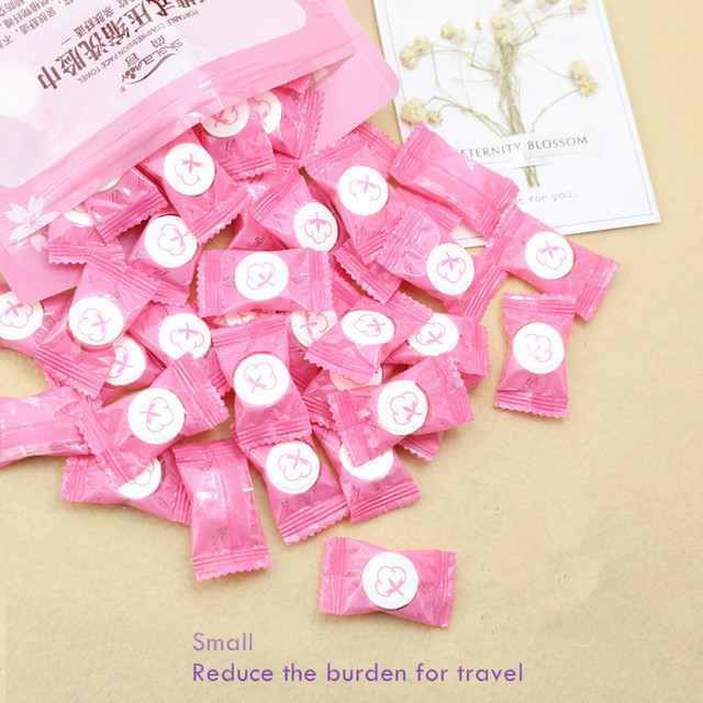 50 pz/lotto 30 pz/lotto All'aperto Magico Viaggio Compressa di Cotone Asciugaman