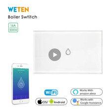 Smart Wifi Boiler Schakelaar, 16A 3000W High Power/App Afstandsbediening/Werk Met Alexa Google Thuis Slimme Boiler Schakelaar