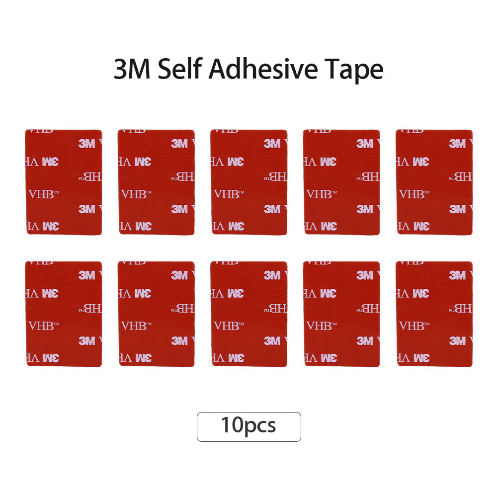10PCS 3M VHB Black Double Sided Adhesive Tape For VIOFO A118C/A118C2/A119/A119S/ 0805 Car Dash Camera Camcorder Holder