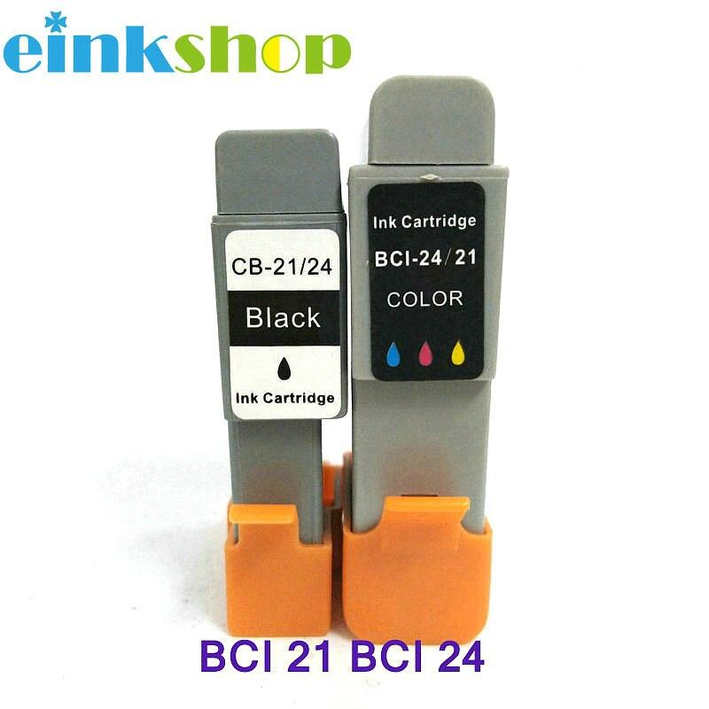 Einkshop cartucho de tinta BCI-21 BCI-24 bci 21 24 cartucho de tinta para Canon BJC 2000 2100 2115 2120 400 410 400j 4000 impresora