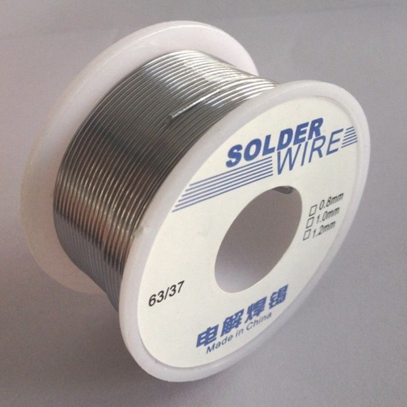 100g 63/37 0.6/0.8/1.0/1.2/1.8mm Tin Lead Soldering Wire Reel ...