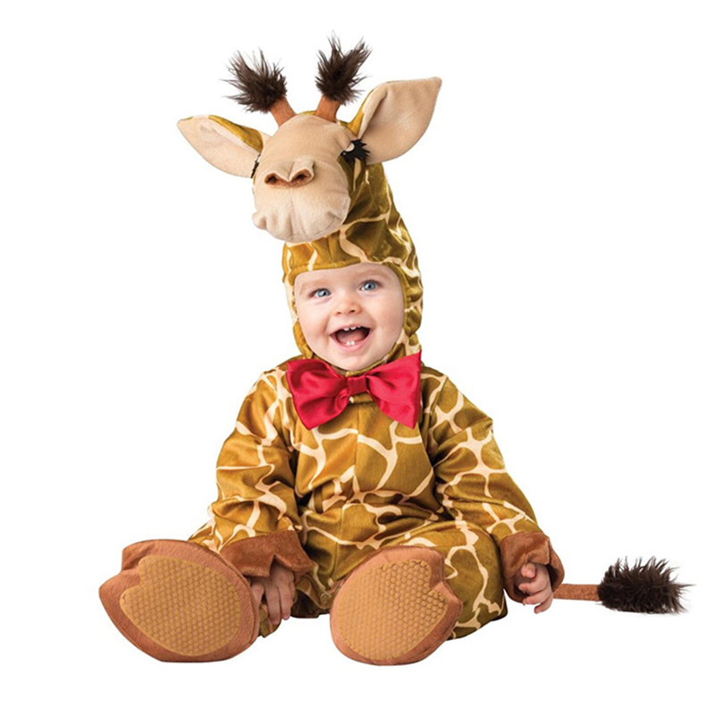 Lovely Animal Halloween Outfit for Baby grow Infant Boys Girls Baby Fancy Dress Cosplay Costume Toddler Elephant giraffe rabbit baby halloween vampire costume boys outfit romper photo props toddler hoodies clothing for kids