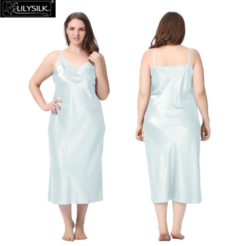 1000-light-sky-blue-22-momme-lacey-neckline-silk-nightgown-plus-size-01