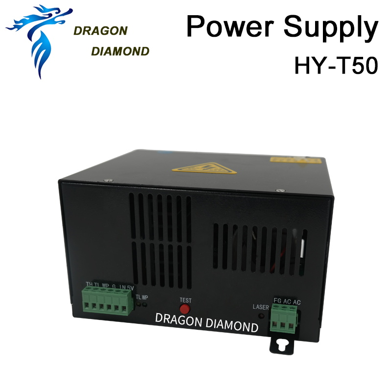 цена на 50W CO2 Laser Power Supply HY-T50 common source for CO2 Laser Engraving Cutting Machine