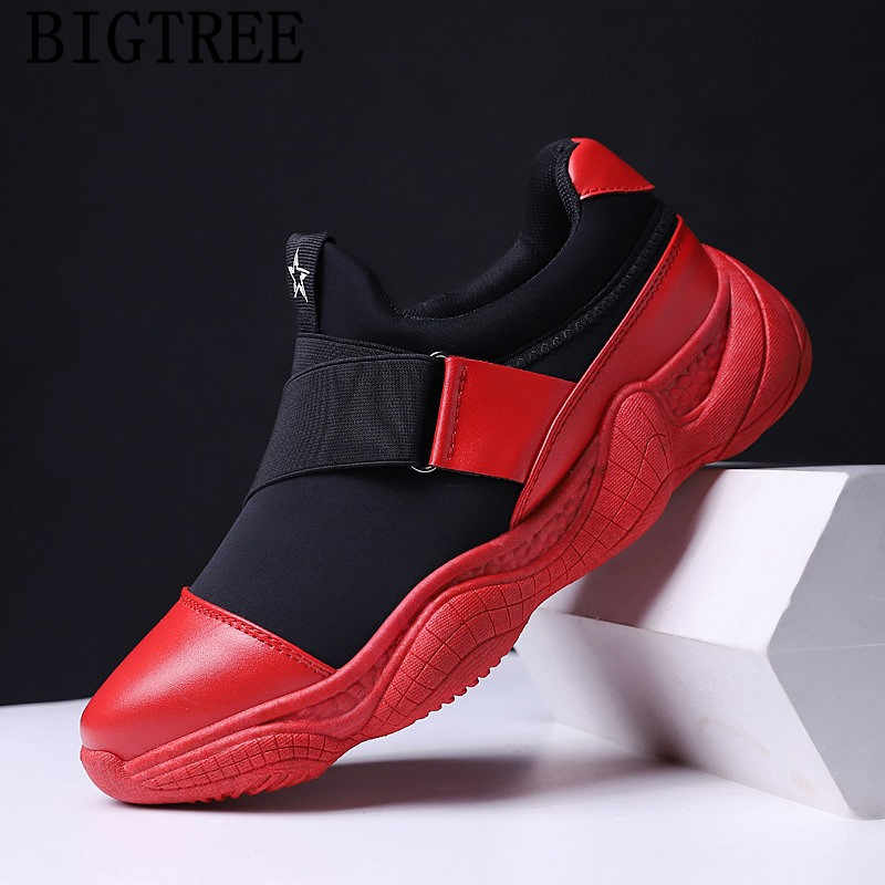 purchase cheap 48419 0ec12 spring autumn mens shoes casual sneakers slip on shoes men loafers red  breathable shoes moda hombre