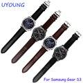 Для Samsung Gear S3 Классический/Forntier Ремешки Для Наручных Часов 22 мм Ремень Из Натуральной Кожи Черный Коричневый Браслет Fit Samsung Smart Watch band