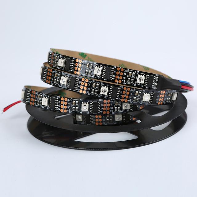 1 Mt 5 Mt WS2801 2801 Weiß Schwarz PCB Traum Farbe 5050 RGB led-streifen band licht einzeln adressierbaren 32 leds dc 5 v free verschiffen
