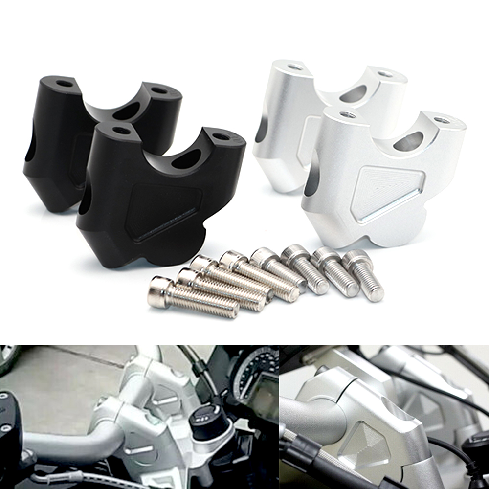 Motorcycle Handlebar Clamp Mount Raised Extension Riser For BMW R1200GS 2013 2016