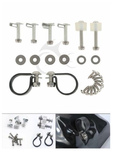 Lower Vented Fairings Mounting hardware Kit Clamps Clips Bolts For Harley Touring Road King Street Glide CVO FLHX FLTR Softail