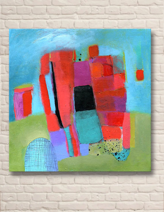 100 Handmade Hot New Colorful Simple Famous Abstract Paintings For Home Decoration 004 In Painting Calligraphy From Garden On Aliexpress
