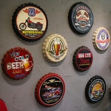 Industrial wind retro beer cover wine bottle cap creative wall decoration bar restaurant decorations