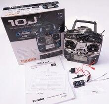 Futaba המקורי T10J 10J עם מערכת רדיו 2.4 GHz R3008SB לקבל ערוץ 10 לrc מסוק Multicopter