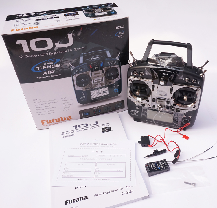 Original Futaba T10J 10J with R3008SB Receive 10 Channel 2.4GHz Radio System for RC Helicopter Multicopter image