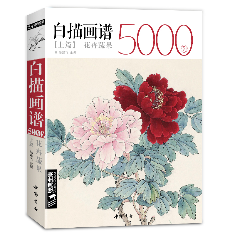 New Hot Chinese Line drawing painting art book for beginner 5000 Cases Chinese bird flower landscape gongbing painting books chinese watercolor landscape painting drawing book from beginner to master