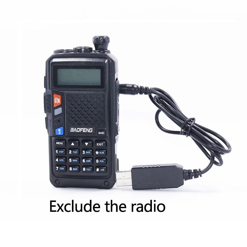 Baofeng USB Chargeur Câble avec Voyant pour Talkie Walkie BaoFeng BF-UVB3Plus Batetery Jambon Radio BF-UVB3 Plus