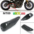 Free shipping  Full Carbon Fiber Exhaust Cover for Yamaha FZ-09/MT-09 Twill Glossy Exhaust protection Carbon 2014 2015 2016