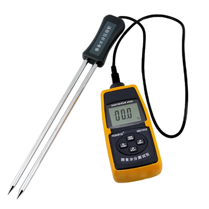 FDDT MD7822 Grain / Paddy / Rice / Corn Detector with Humidity Compensation Function Wheat Moisture tester grain moisture meter lcd display digital grain moisture tester contains wheat corn rice humidity tools atc and backlight
