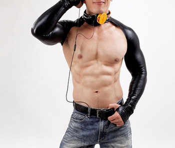 2018 Sexy Latex Bodysuit Catsuit Men Long Sleeve DJ Body Suits Nightclub Bodies Sex Product Gloves PVC Black Erotic Leotard - Category 🛒 Novelty & Special Use