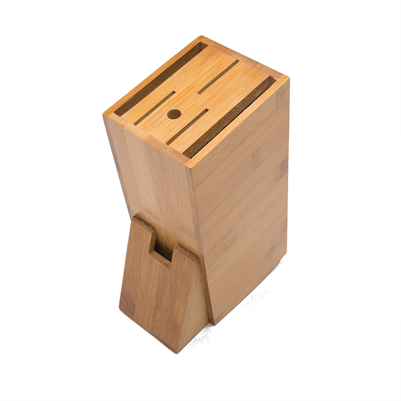 Hot Sale Classic Natural Bamboo Knife Holder Kitchen Tools Storage Racks Free Shipping