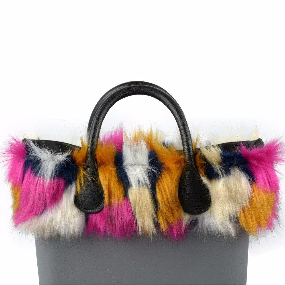 Image 5 - Женская сумка tanqu, разноцветная, с плюшевой обшивкой, с тепловым плюшем, украшением из искусственного меха, подходит для классического большого мини сумкиДетали и аксессуары для сумок   -