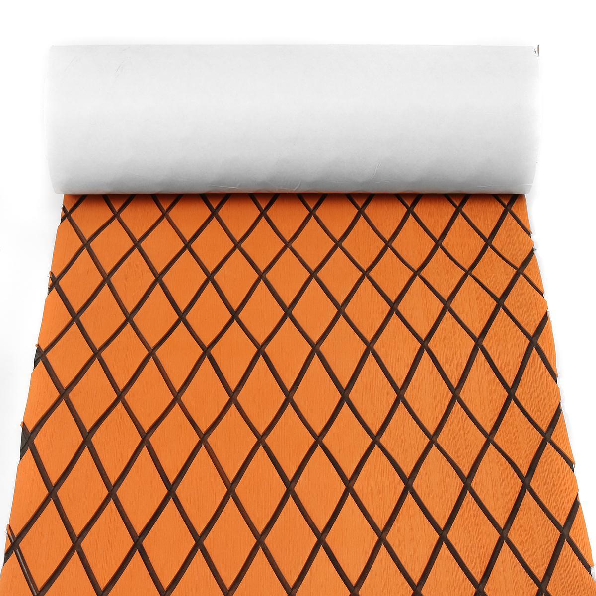 60CMx190CM EVA Foam Marine Teak Sheet Touring Car Mat <font><b>Flooring</b></font> Synthetic Boat Decking Yacht Orange + Black Pad