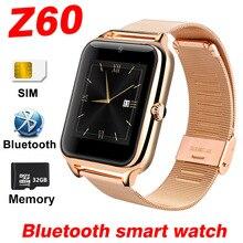 Купить с кэшбэком bluetooth Smart Watch men Phone Watches For Android phone watch Stainless Steel SIM Fitness Tracker Smart Band PK Y1 Smartwatch