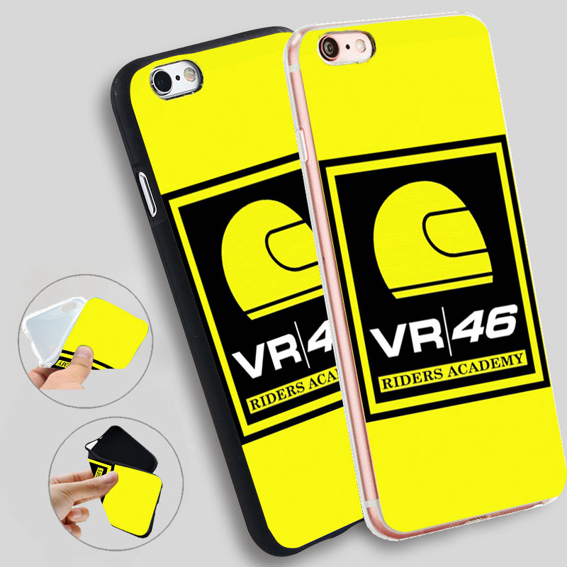 Minason Logo Vr46 Riders Academy Silicone Cases For iphone 7 7plus for iphone 8 5s 5 SE 6 s 6s 6/7/8 plus X TPU Phone Case
