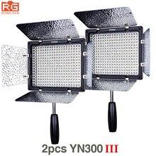 2 pièces Yongnuo YN300 III YN 300 III 3200 k 5500 K CRI95 + Pro LED lumières vidéo prennent en charge ladaptateur secteur et la télécommande APP contrôle