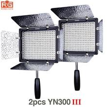 2 adet Yongnuo YN300 III YN-300 III 3200 k-5500 K CRI95 + Pro LED Video Işıklar Destek AC adaptörü ve Uzaktan Kumanda APP Kontrolü
