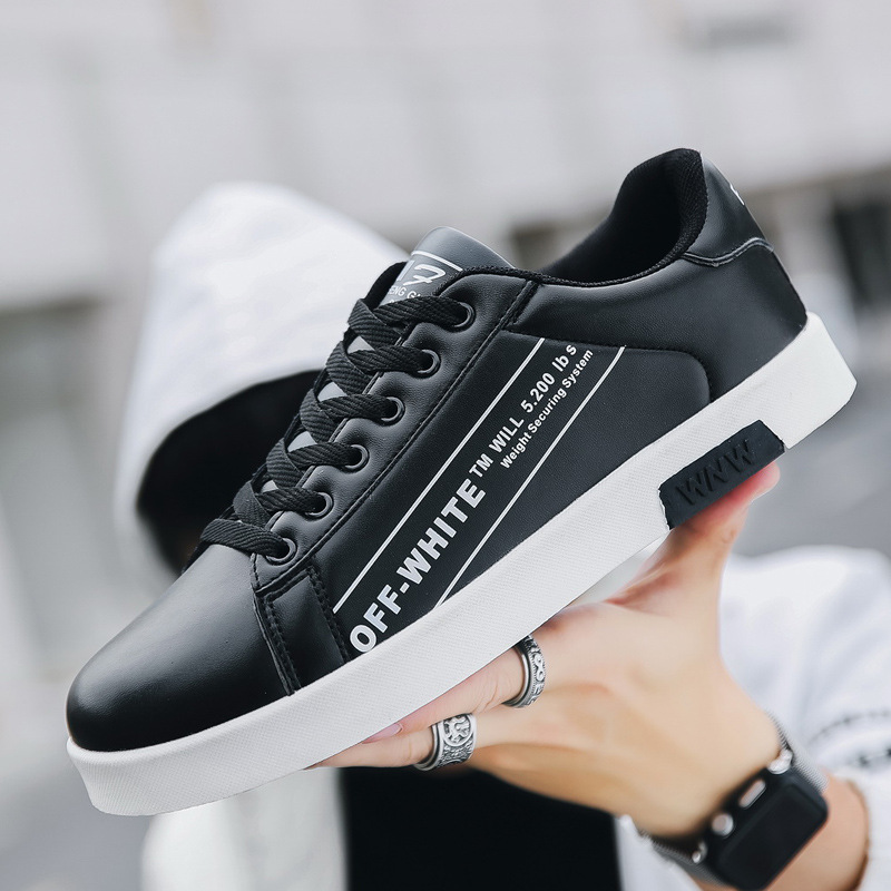 White Shoes Sneakers Breathable Men's Summer of Little Korean-Version Students