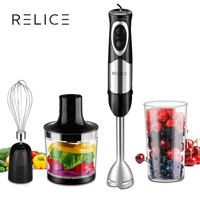 RELICE Handheld Blender 500W Powerful Electric Multi functional Hand Mixer With Chopper Whisker and Cup Food Mixer For Kitchen