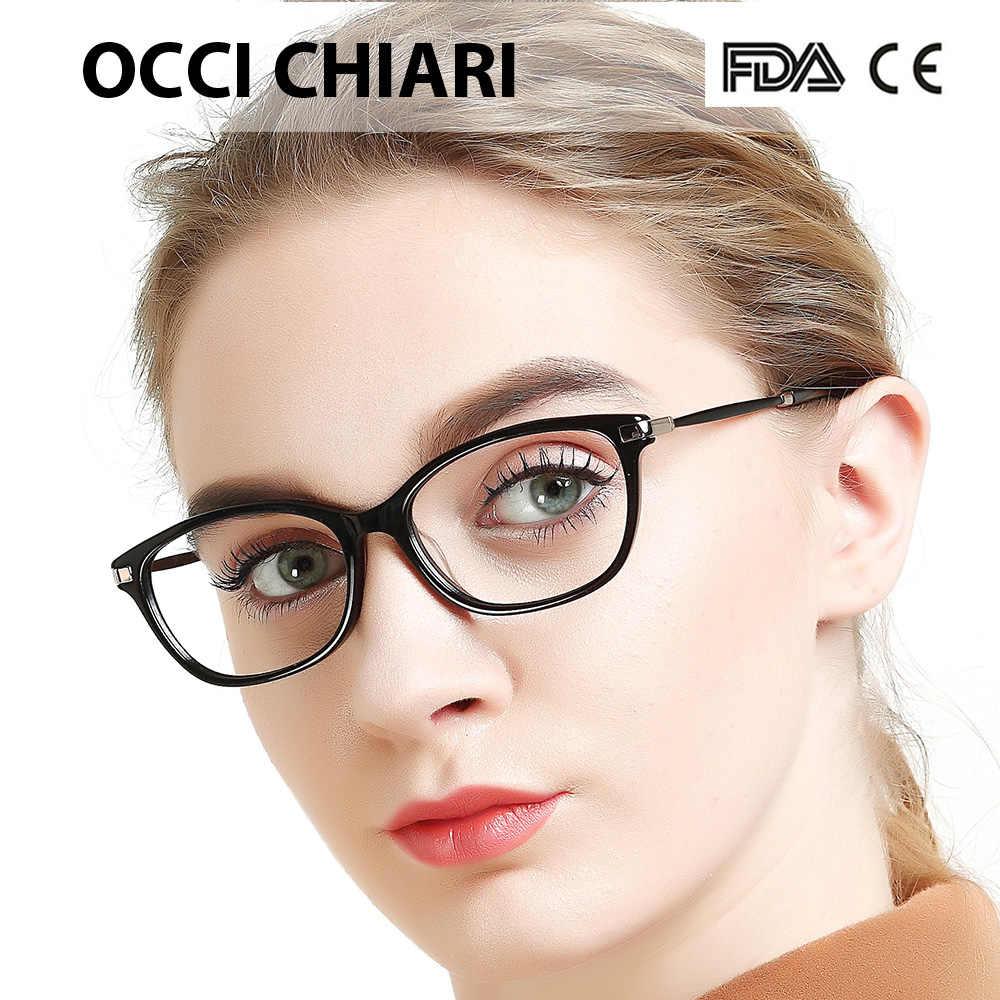 c29b432b12dd ... OCCI CHIARI Eyewear Myopia Gafas Women Eyeglasses Frame Acetate Spring  Hinge Spectacles Prescription Eyeglasses Red W ...