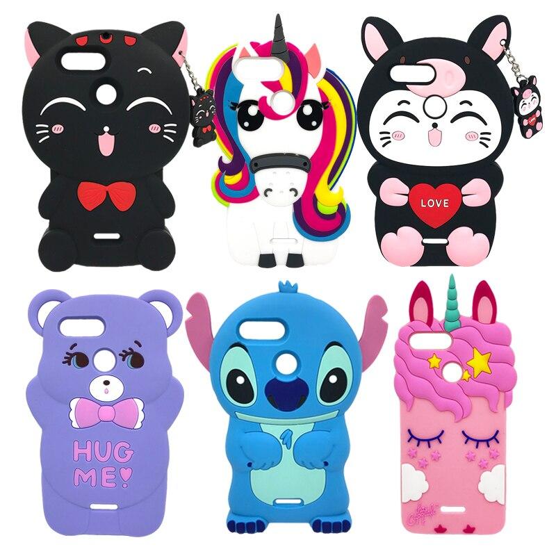 For Xiaomi Redmi 6A Case 3D Silicon Lucky Cat Stitch Unicorn Cupcake Cute Cartoon Soft Phone Cover For Xiaomi Redmi 6 / 6A 5.45