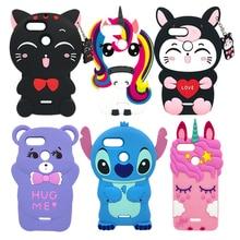 For Xiaomi Redmi 6A Case 3D Silicon Lucky Cat Stitch Unicorn Cupcake Cute Cartoon Soft Phone Cover 6 / 5.45