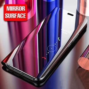 Умный зеркальный флип-чехол для Huawei Mate 10 lite / Honor 9i / Nova 2i, кожаный чехол с подставкой для P8 P9 Lite 2017, роскошный пластиковый чехол