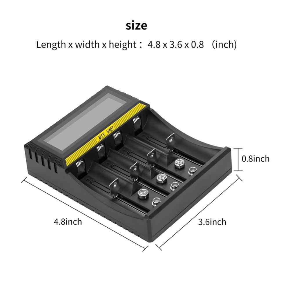 متعددة الوظائف شاحن بطارية 4 فتحات ليثيوم أيون ليثيوم الحديد متولى حسن ني CD الشواحن الذكية ل AA/AAA/ 18650/26650/6F22/16340/9V البطارية