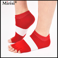 Best Selling Women S Fashion Combed Cotton Invisable Half Foot Sock Yoga Sock