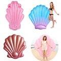 Shell piscina flotador inflable natación flotador shell piscina flotador paseo en el anillo de natación adultos agua fiesta juguetes azul rosa rojo rosa