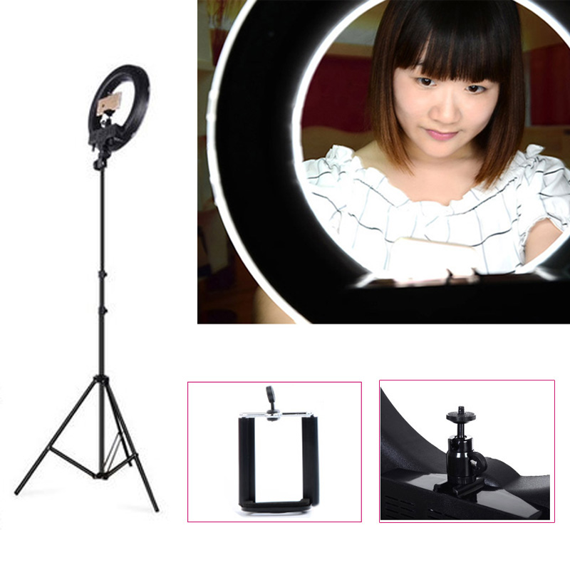 Roadfisher Photography Ring Led Light Eye Lamp Flash For Photo Studio Phone Holder Video Anchor Live Broadcast Ball Head Selfie Waterproof Shock-Resistant And Antimagnetic Accessories & Parts Digital Gear Bags