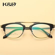 K&D Brand New  Eyewear Retro Frame Alloy Glasses Double Bridge Aviator Pilot Shape Good Quality Accessories Fashion Unisex 8108