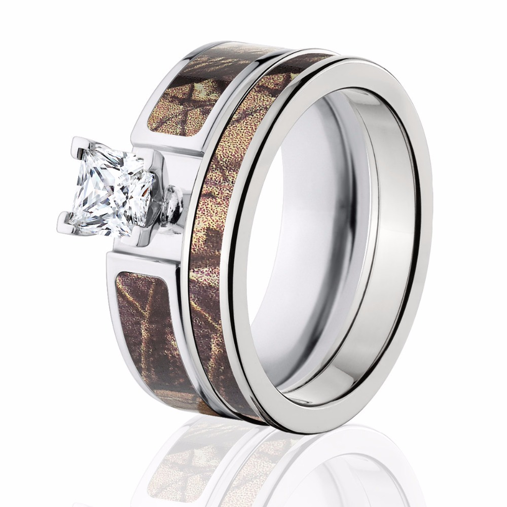 brown engagement rings - Cheap Camo Wedding Rings