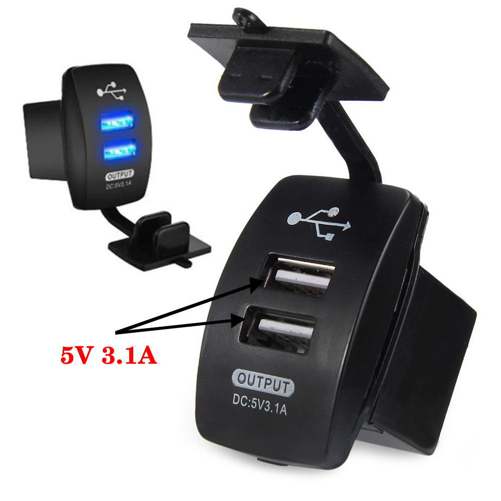 2 port usb car cigarette lighter adapter dual plug 16