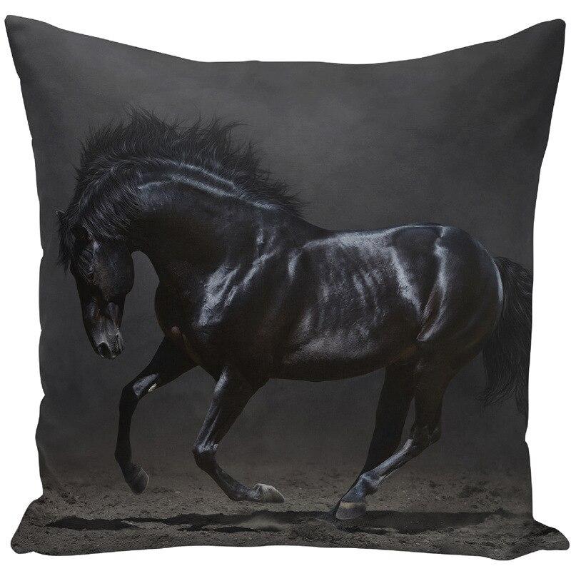 Image 5 - Throw Pillow Bts Case 45x45 Animal Print War White Horse Cushion Cover Sets for Chair Sofa Decorative Home Farmhouse Decor-in Cushion Cover from Home & Garden