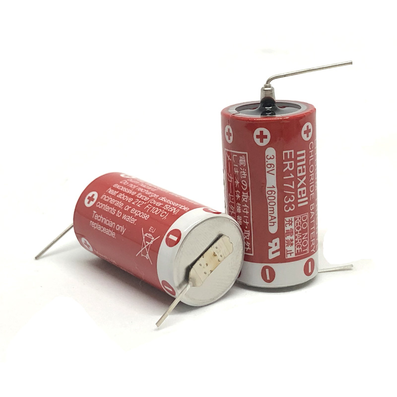 4pcs lot New Original MAXELL ER17 33 3 6V 1600mAh Lithium Batteries PLC Battery ER17 33 in Primary Dry Batteries from Consumer Electronics