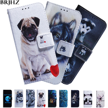 Y7 2019 Case on For Fundas Huawei Prime Flip Painted Leather Wallet Cases Coque Pro Cover
