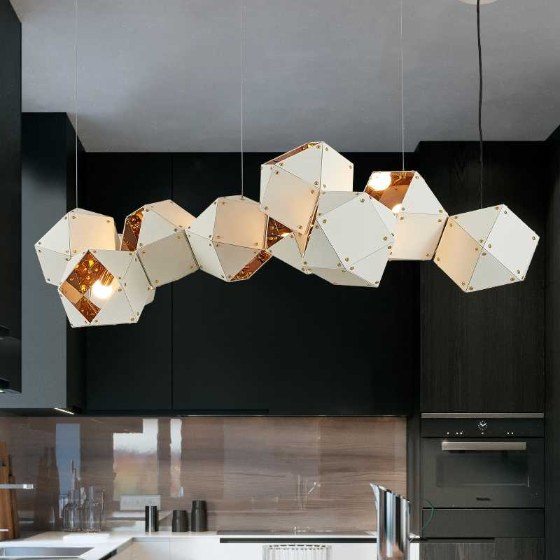 Modern Led Chandelier Nordic Suspended Lamp Loft Deco Lighting