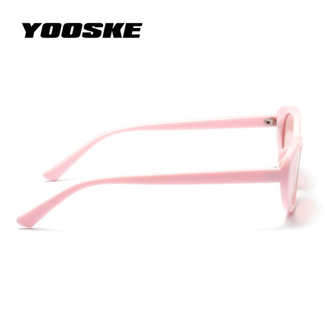 YOOSKE Cute Sexy Ladies Cat Eye Sunglasses 2018 Women Vintage Brand Small Round Sun Glasses for Women Female Oval Glasses UV400
