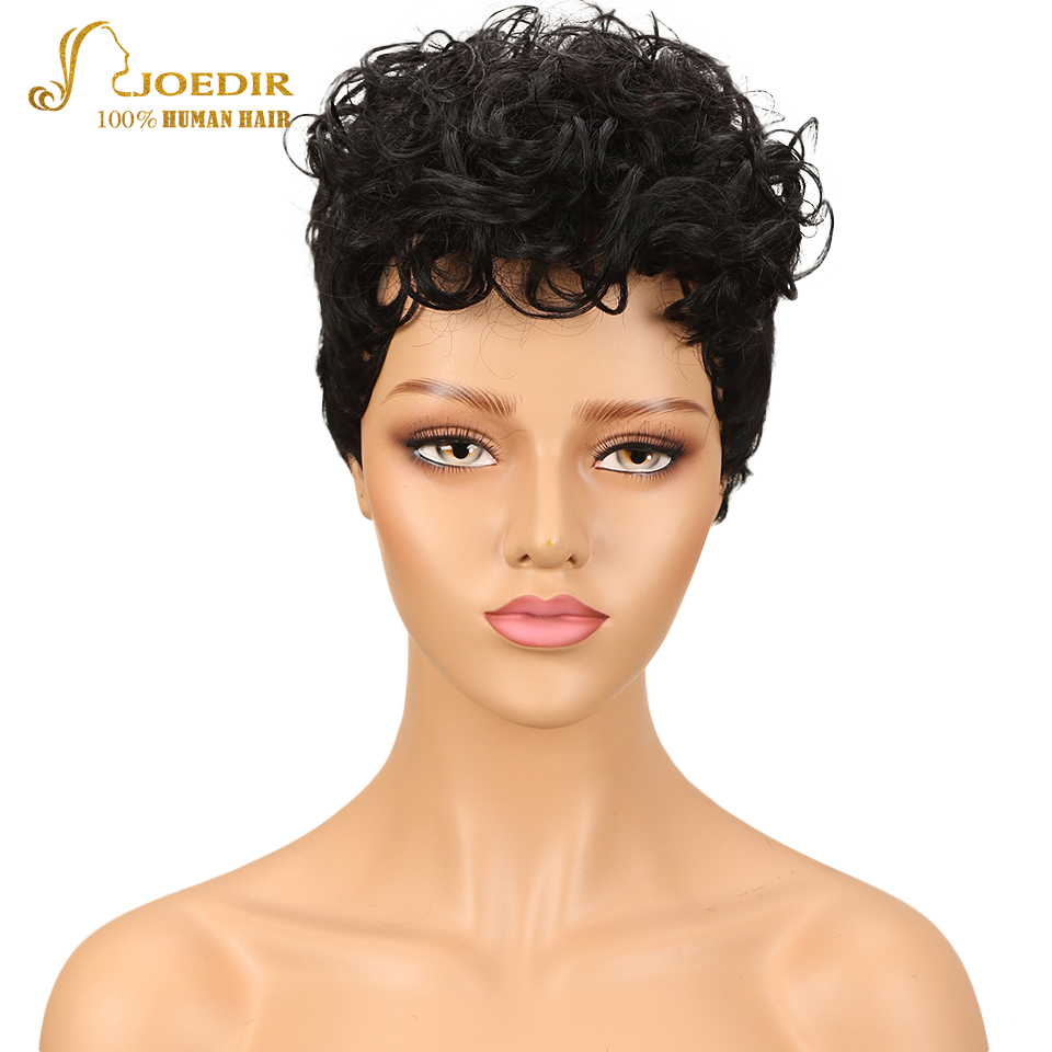 Joedir Short Human Hair Wigs Brazilian Curly Human Hair Wig Cheap Ombre Wigs For Black Women Free Shipping