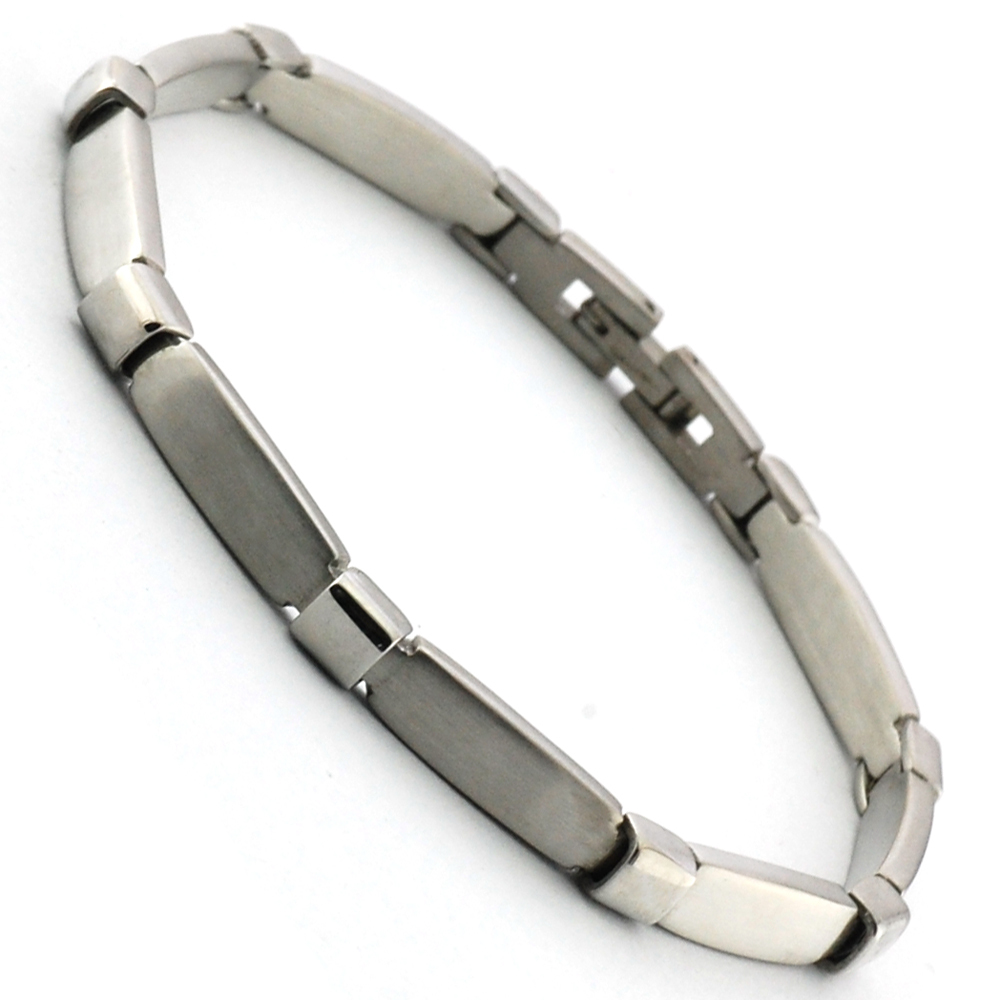 Wollet Jewelry Hot Sale Fashion jewelry Simple Fine chic Men 316L stainless steel Bracelets women in Chain Link Bracelets from Jewelry Accessories