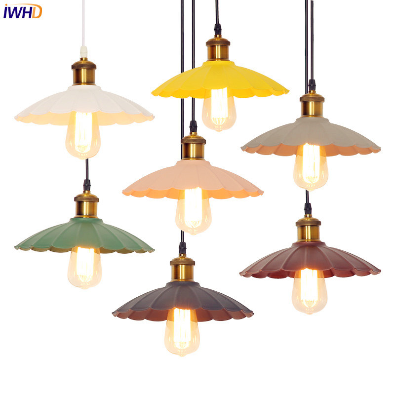 IWHD Nordic Retro LED Pendant Lights Fixtures Vintage Lamp Creative LED Edison Loft Industrial Lighting Lampara Lampen iwhd iron retro lamp pendant lights loft style creative industrial lighting fixtures led hanging lights fixtures lamparas lustre